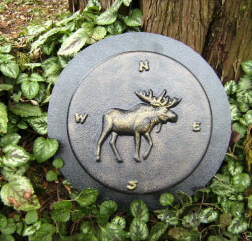 Moose stepping stone mold plaster concrete mould