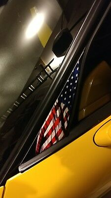 American Flag C5 Corvette Hood Pad Custom Decal