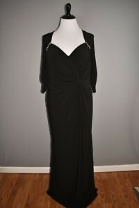 MAC DUGGAL NEW $398 3/4 Sleeve Ruched V-Neck Long Evening Dress Size 18W