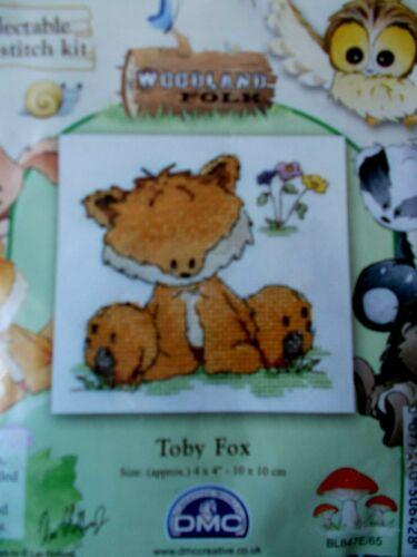 """Kit Punto De Cruz Woodland Folk /""""Toby Fox/"""" nuevo por DMC"""