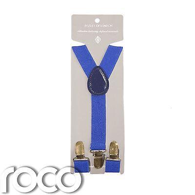 Ordinato Ragazzi Royal Blue Bretelle, Ragazzi A Strisce Bretelle, Ragazzi Accessori Blu-mostra Il Titolo Originale Da Processo Scientifico