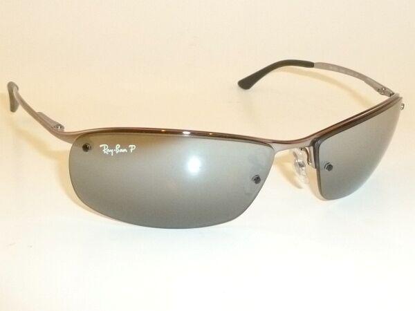 9cae1a0e82 New RAY BAN Sunglasses Gunmetal Frame RB 3183 004 82 POLARIZED Silver Mirror