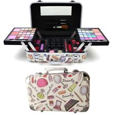 79 PIECE VANITY CASE BEAUTY COSMETIC SET GIFT TRAVEL MAKE UP BOX XMAS 79PCS