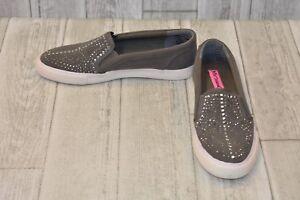 Betsey-Johnson-Amira-Slip-On-Sneaker-Women-039-s-Size-8-Grey