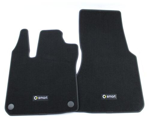 2-teilig SET Smart ForTwo 453 Velour Fussmatten schwarz A4536801804