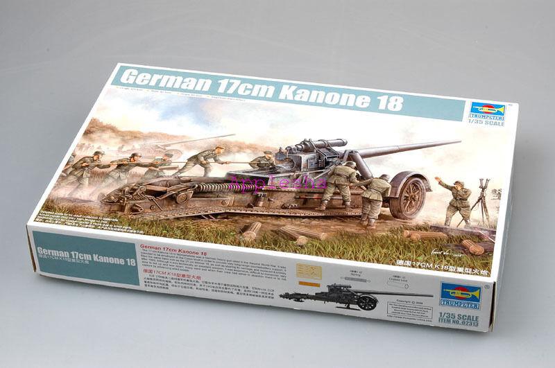 Trumpeter 02313 1 35 German 17cm Kanone 18