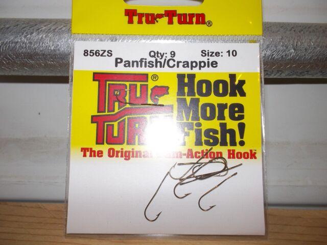 tru turn size 2 panfish fishing hooks qty 10 trout
