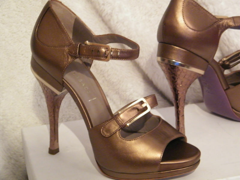 VERSACE chaussures chaussures chaussures SANDALS HEELS PLATFORM or 10 40 d5837c