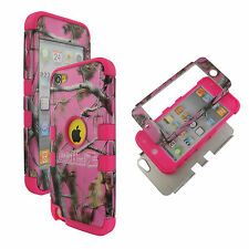 Pk Pink RGHT2 Hybrid 3 in 1 Apple Ipod Touch 5 Case Outer Hard & Soft Cover