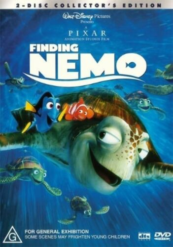 1 of 1 - Disney FINDING NEMO (DVD, 2004, 2 disc) - Like New & FREE POSTAGE