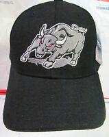 Toros School Spirit Sports Cap College Football Hat Black W/mascot Embroidery