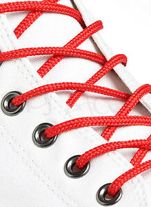 ROUND-RED-SHOE-LACES-LONG-SHOELACES-3mm-wide-11-LENGTHS-VERY-HIGH-QUALITY