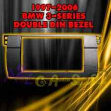 BMW 3 SERIES E46 CAR STEREO RADIO DOUBLE 2 DIN INSTALL DASH KIT BEZEL 1997-2006