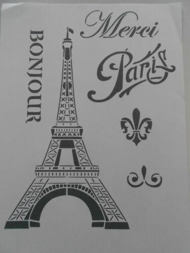 Schablone Paris1 auf A4
