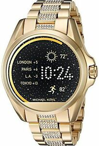 1a2baa10693e Michael Kors Access Bradshaw 44.5mm Stainless Steel Case Link Bracelet  Gold-Tone and Pav  Smartwatch - (MKT5002) for sale online