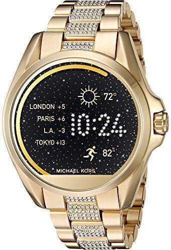 d72935460 Michael Kors Access Bradshaw 44.5mm Stainless Steel Case Link Bracelet  Gold-Tone and Pav  Smartwatch - (MKT5002) for sale online | eBay