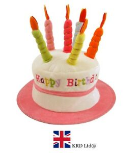 Image Is Loading PINK HAPPY BIRTHDAY CAKE HAT Kids Adult Headwear