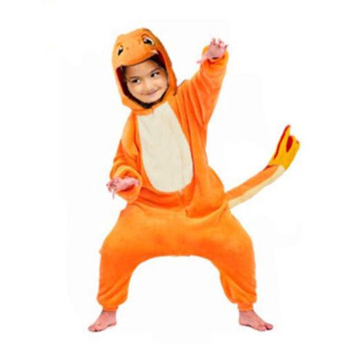 Pokemon Charmander Animal Pajamas Pikachu Onesie12 Kids Costume Pyjamas