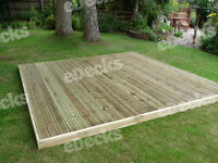 Reject Decking Kit No Handrails (1.5m X 1.5m), Garden Decking, Timbers,