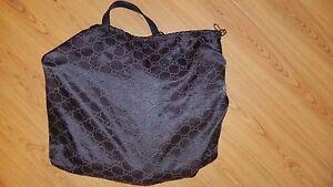 d6988669cc67 100% Authentic Pre Owned Gucci GG Canvas Abbey Tote Black | eBay