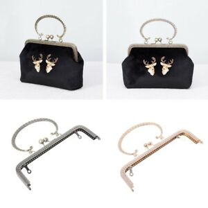 Image Is Loading 20x12cm Diy Metal Frame Kiss Clasp Lock For
