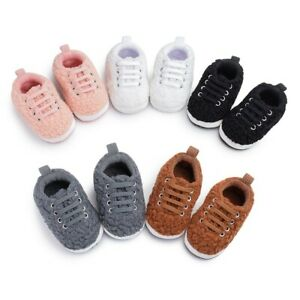Toddler-Kids-Baby-Girls-Boy-Cute-Plush-First-Walk-Lace-up-Casual-Keep-Warm-Shoes