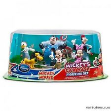 NEW Disney Store PVC Mickey's Car Wash Mickey Mouse Clubhouse Figure Set 6 Pc