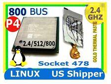 Intel Pentium 4 2.40GHz Socket 478 CPU. 800 MHz FSB Hyper-threading 2400/512/800
