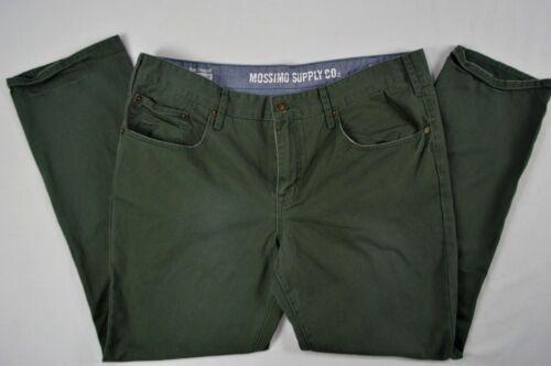 Mossimo Supply Co Men/'s Slim Straight Dark Green 100/% Cotton Pants size 42 X 32