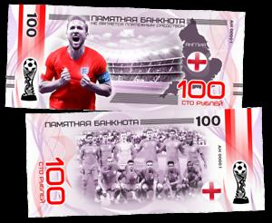 "100 rubles commemorative banknote /""Argentina/"" series-2018 FIFA world Cup teams"