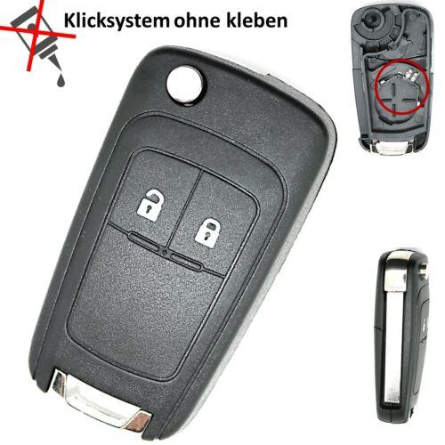 Chevrolet Cruze Aveo Orlando Klapp Funk Schlüssel Ersatz Gehäuse 2 Tasten Repair