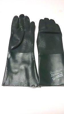 "ANSELL 04-414 Chemical Resistant Glove,PVC,14/"" L,PR"