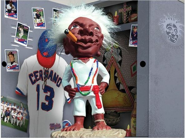 JOBU Voodoo Doll Figure Replica Major League Movie Cerrano MLB Indians Baseball