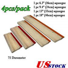 Us 4pcs Silk Screen Printing Squeegee Ink Scraper Scratch Board 75 Durometer