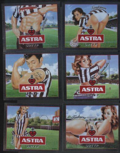 6 Labels Hamburg Pauli GERMAN Beer ASTRA unused soccer club FC St