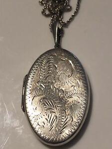 Exquisite-Vintage-Large-Sterling-Silver-925-Locket-12-4g