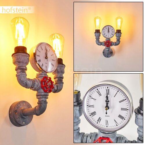 Vintage Retro Strahler Design Loft Wandleuchte Flur Wohn Schlaf Zimmer Lampe Uhr