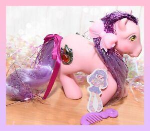 ❤️My Little Pony MLP G1 Vtg Princess DAWN Tinsel Red JEWEL Pink Purple Earth❤️