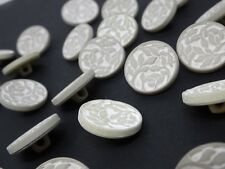 10 x 28mm Large White Shank Dress Coat Buttons Sewing Knitting Craft AA23