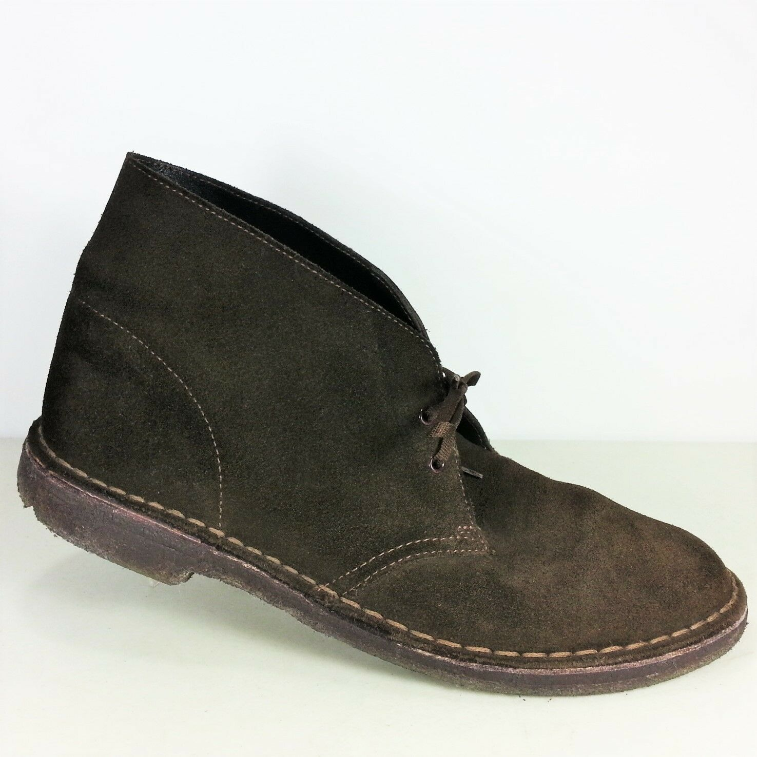 Clarks Original Desert Boots Mens Dark Brown Suede Ankle Boots shoes Size 11 US