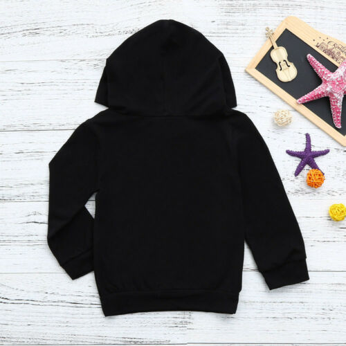 Toddler Baby Girls Boys Hooded Sweatshirts Letter Blouse Hoodies Tops Tracksuit