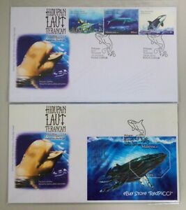 MALAYSIA-Endangered-Marine-Life-2015-Stamp-amp-Miniature-Sheet-FDC