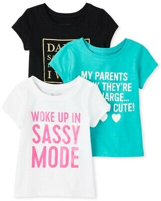 NEXT 3 Really Cute Little Girls T-Shirts Up to 3 Months NWT