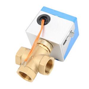 DN20-Valvola-elettrica-a-sfera-motorizzata-3-vie-per-condizionatore-d-039-aria-set