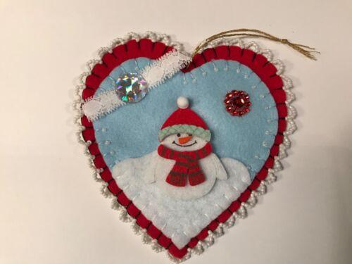Snowman ornaments heart shaped ornaments item# Snowman 104
