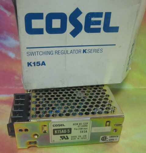NEW COSEL SWITCHING REGULATOR K15AU5 5V3A . WL60