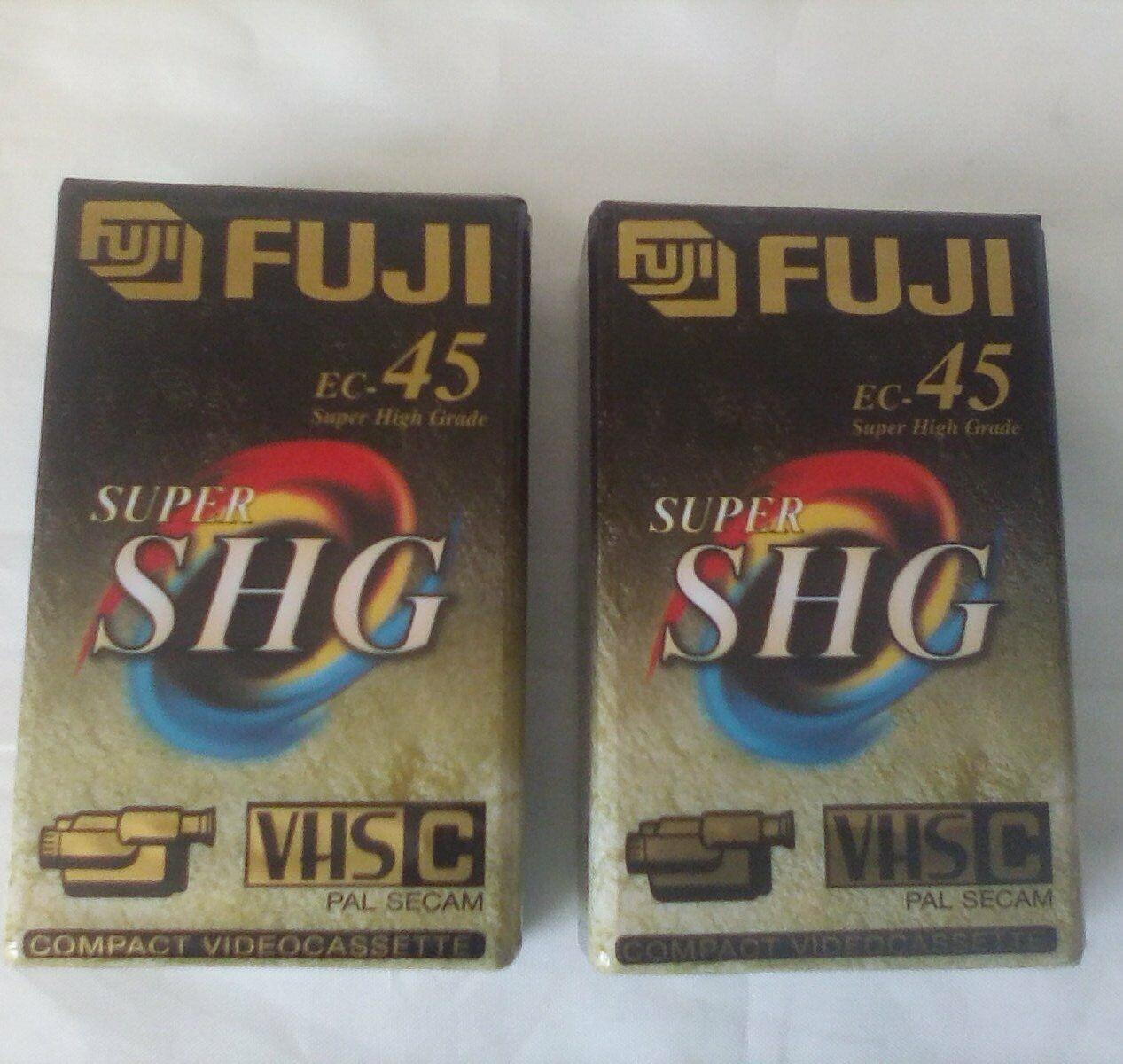 vhsc 2 x Fuji EC 45 Super SHG VHSC tapes New and sealed