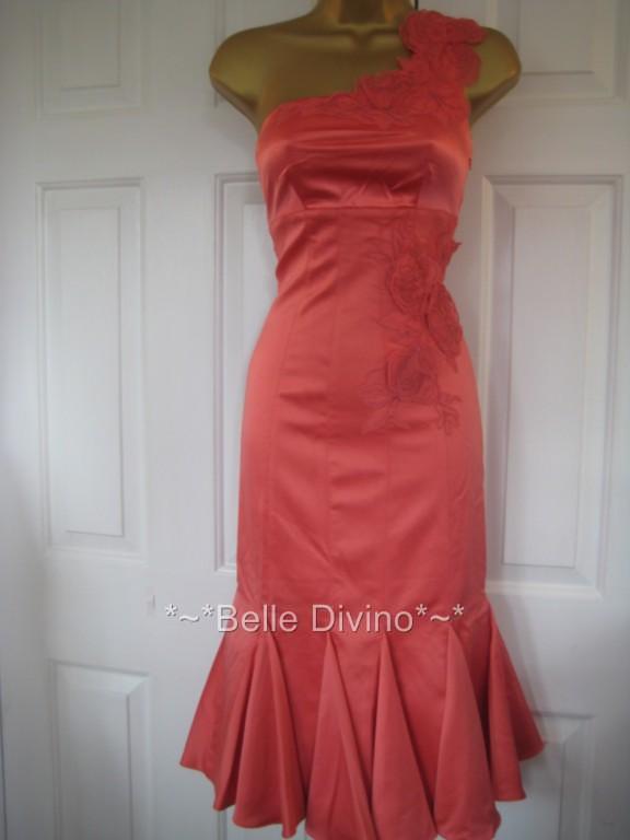 DG031 KAREN MILLEN BNWT  CORALLO Silk Dress gare di di di nozze 20a4e0
