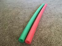 2 Pool Noodle (green+red) Swimming Water Foam, Craft & Therapy