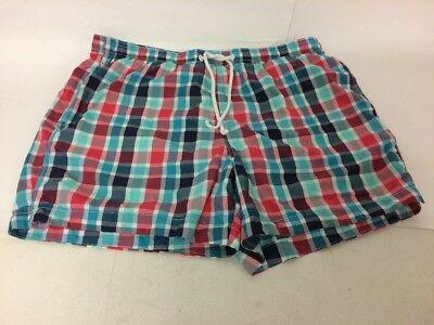 2019 Nuovo Stile H&m Da Uomo Swim Shorts Blue Check Rosso Bianco Taglia M Elastico In Vita Con Coulisse-mostra Il Titolo Originale Sconto Online